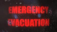 Emergency Evacuation Alert Signal on an Old Dirty Screen Stock Footage