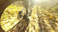 Unique mounted MTB camera Stock Footage