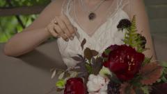Dark Bridal Bouquet Stock Footage