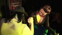 Women's competition arm wrestling club at the party Stock Footage