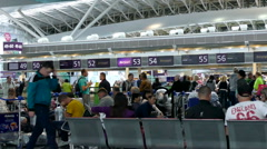 Waiting in the airport Borispol Stock Footage