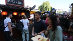 London Camden Market, Street Foods.. Stock Footage