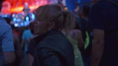 Lady having fun at a concert Stock Footage