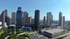 Aerial View of Downtown Houston Skyline Arkistovideo