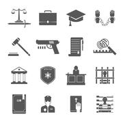 Law Enforcement Icons Set Stock Illustration