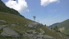 View of a cable car on Transfagarasan Stock Footage