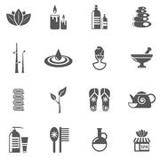 Stock Illustration of Spa And Relax Icons Set