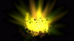 4k Explosion fire light,galaxy smoke,military bomb particle,ray energy light. - stock footage