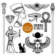 Egypt Symbols Set - stock illustration