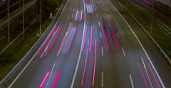 Night scene of traffic and roads.Time Lapse - Long exposure - 4K. (8) - stock footage