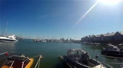 Boats at a harbor, at hanko regatta Stock Footage