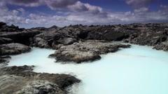 Geothermal pool Iceland Stock Footage