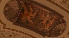 Stock Video Footage of Bavarian State Opera House, Bayerische Staatsoper, auditorium ceiling
