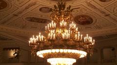 Stock Video Footage of Bavarian State Opera House, Bayerische Staatsoper, auditorium chandelier