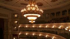 Stock Video Footage of Bavarian State Opera House, Bayerische Staatsoper, auditorium