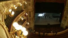 Bavarian State Opera House, Bayerische Staatsoper, view over top balcony Stock Footage