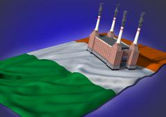 National heavy industry concept - Irish theme Stock Illustration