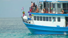Dive boat - stock footage