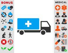 Medical Shipment Icon - stock illustration