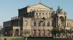 Dresden Opera House exterior wideshot - stock footage