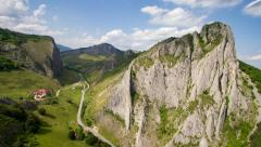 Pan shot of Aiud Gorges (Valisoarei Gorges), Alba county, Transylvania. Stock Footage
