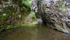 River flows through the canyon of Stan Valley, Transfagarasan, Romania Stock Footage