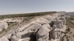 Bakhchisarai. Canyon Chufut-Kale. Bakhchisarai Tchuruk-Su(sphinx). - stock footage
