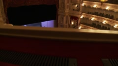 Munich State Opera House, lean over top balcony, Bavaria Stock Footage