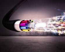 Optical fiber Stock Illustration