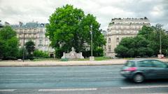 Paris Avenue Foch Stock Footage