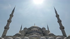 Blue mosque istanbul daylight tilt Stock Footage