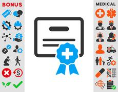 Medical Certification Icon Stock Illustration