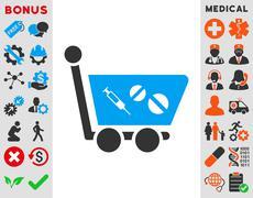 Stock Illustration of Medication Shopping Cart Icon
