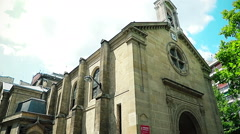 Paris Church Eglise Honore of Eylau Stock Footage