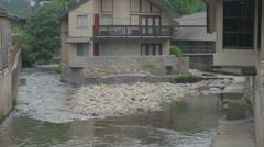 Gatlinburg streamside accommodations Stock Footage