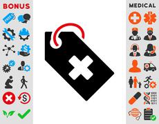 Hospital Tag Icon - stock illustration