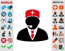 Medical Manager Icon Stock Illustration