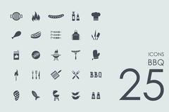 Stock Illustration of Set of BBQ icons