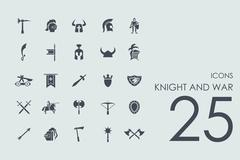 Stock Illustration of Set of knight and war icons