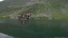 Balea Lake Chalet on Transfagarasan Stock Footage