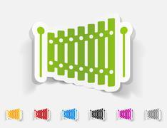 Realistic design element. xylophone Piirros