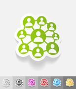 realistic design element. social network - stock illustration