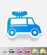 Stock Illustration of realistic design element. snack on wheels
