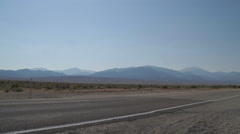 Welcome to Nevada Sign Along Side of Road Stock Footage