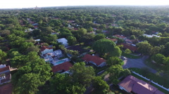 Flying over Coral Gables neighborhoods in 4K Stock Footage