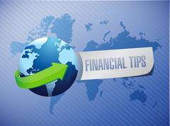 Stock Illustration of financial tips international sign concept