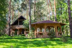 Stock Photo of Wooden house in the wood