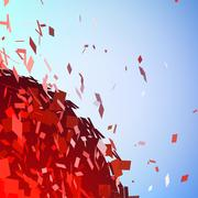 Abstract background with broken surface explosion Piirros