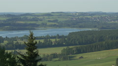 Beautiful view of Forggensee, Fussen Stock Footage