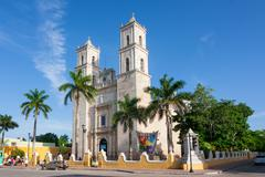Cathedral of San Ildefonso Merida capital of Yucatan Mexico - stock photo